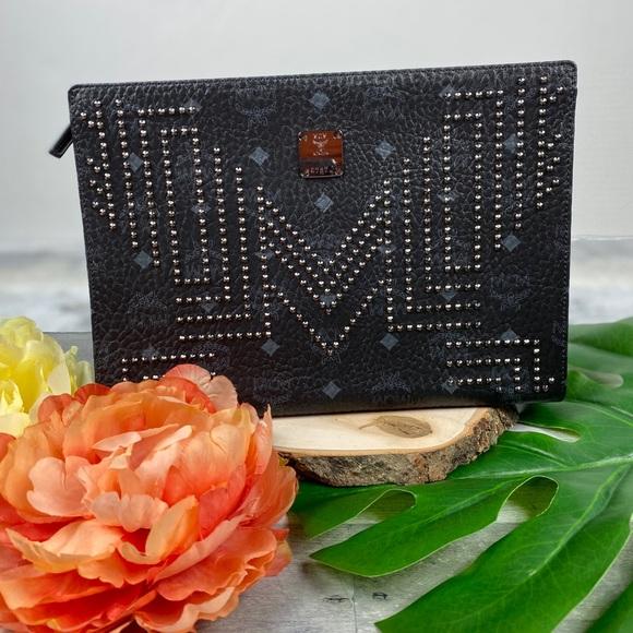 MCM Handbags - MCM medium Stark studded clutch pouch